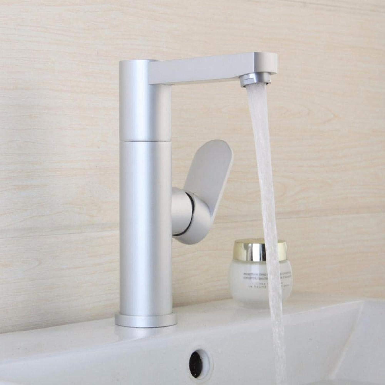 Hiwenr Gute Qualitt Badezimmer Waschbecken Wasserhahn Poliert Raum Aluminium Metall Materialien Einhand-Wasserhahn Wasserhhne