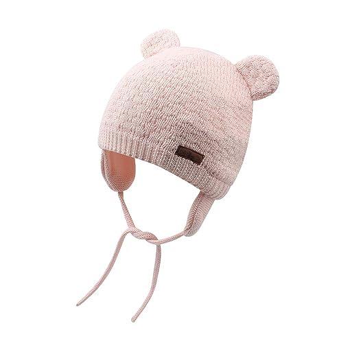 568aafdd104 Cutegogo Baby Infant Earflap Beanie Hat Toddler Boys Girls Winter Warm  Crochet Cap 0-24Months