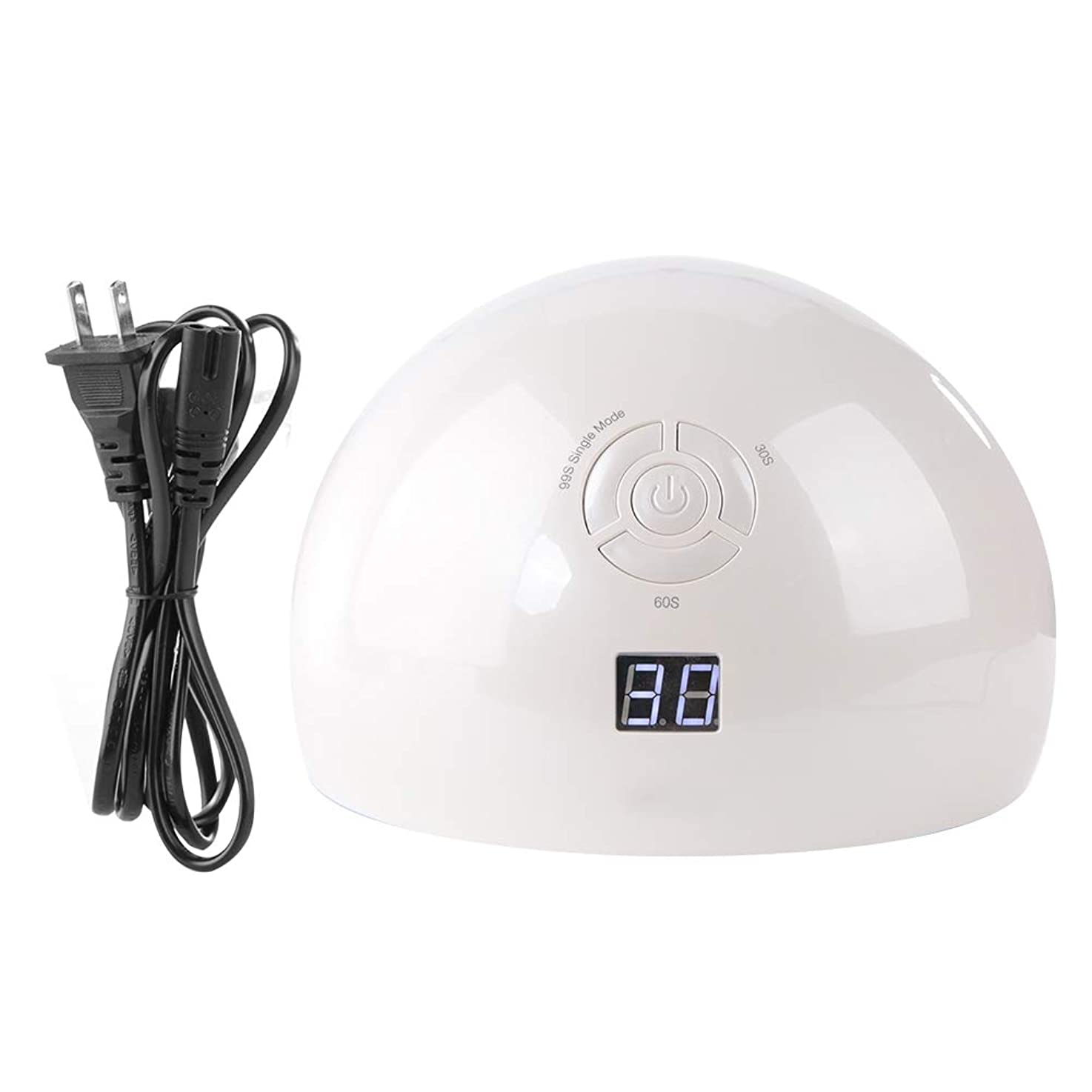の配列代表する良い48W 多機能 LEDネイルランプ 赤外線センサー UVネイルドライヤー 30秒 60秒 99秒モード/インテリジェント 痛みなし(01)