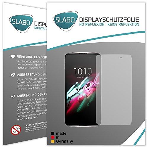 Slabo 2 x Bildschirmfolie für Alcatel Idol 4 Bildschirmschutzfolie Zubehör No Reflexion MATT - Made IN Germany