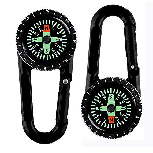 Kompass Schlüsselbund Karabiner Kompass Wandern Kompass Kompass Schlüsselanhänger Kinder Outdoor Camping Kompass Kompass Outdoor Schlüsselbund Ring Kompass Für Wandern Camping Klettern 2 Stücke