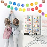 Pimoys 水玉ウォールデカール 29枚 カラフルなドットウォールステッカー 取り外し可能なビニールドット装飾 保育園 赤ちゃん 子供 女の子 ティーンルーム