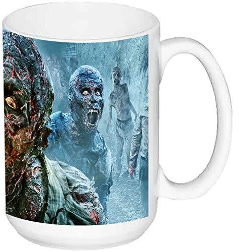 MasTazas The Walking Dead Zombies Scary Taza Grande Ceramica 15 oz ≈ 443 ml