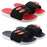 Chevit Latest Comfort Flip-Flops/Slides for Men & Boys Multicolors Combo Pack of 2