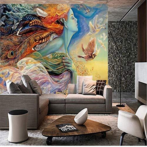 Wallmural 3D muurbehang, abstract behang, graffiti, schilderij, bioscoop, bar, slaapkamer, bank, tv, achtergrond, huisdecor, behang niet-geweven 140x200cm