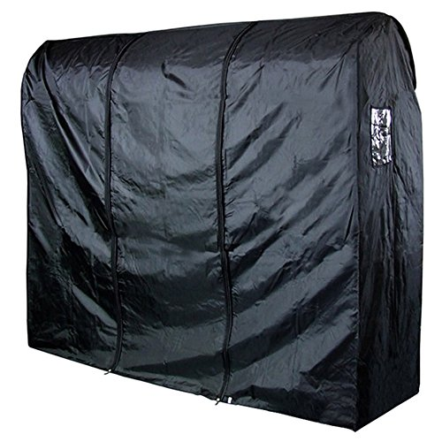 Hangerworld ST-6FT-NYLON-RAILCOVER-BLACK_1 - Funda Impermeable para Perchero Burro, Negro 183 cm