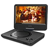WONNIE 2019 Upgrade 11.5' Lecteur DVD Portable avec écran Rotatif de 9,5' à 270°, Inte Carte SD et Prise USB avec Batterie Rechargeable Formats/RMVB/AVI / MP3 / JPEG, Parfait pour Enfants (Noir)