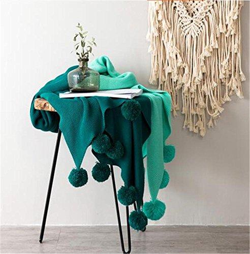 JINGYU Couture à Deux Couleurs/Mignon Ball/Manteau d'ameublement/Drap de Coton Confortable/Couverture de lit, Green