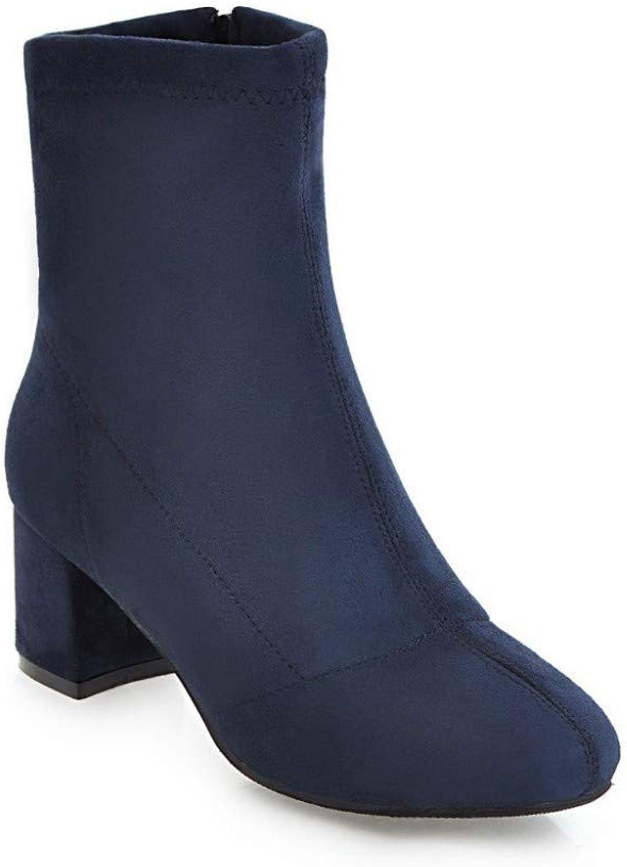 HhGold Damenstiefel - Winter Plus Samtwarme Stiefel Stiefel Stiefel Dick mit hohem Absatz Wildleder in den Sandstiefeln   36-43 (Farbe   Blau, Größe   39) 1f6