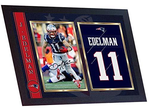 SGH SERVICES New England Patriots Broncos NFL Autogramm American Football NFL signiertes Autogramm Foto gerahmt Foto Druck gerahmt MDF Rahmen Fotodruck #1