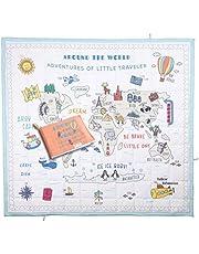 Miujoy Dünya Haritalı Oyun Seti - Küçük Gezgin - Oyun Halısı, Kitap, Oyuncak