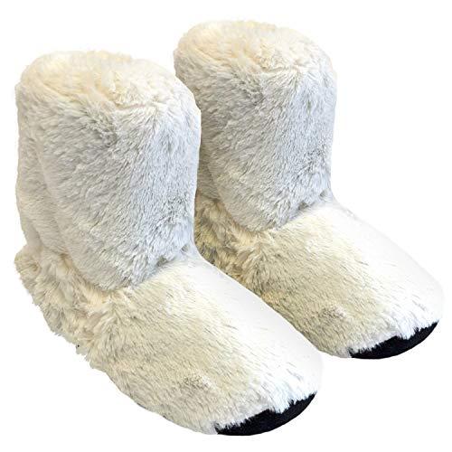 Thermo Sox Original Supersoft Hoch Hausschuhe für Ofen & Mikrowelle, Farbe:Weiß, Schuhgröße:36/40 EU