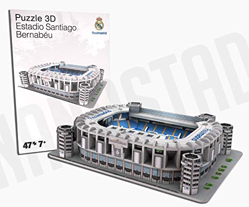 REAL MADRID- Nanostad, Puzzle 3D Estadio Santiago Bernabéu