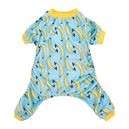CuteBone Dog Pajamas Banana Dog Apparel Dog Jumpsuit Cat Clothes Pet Pjs P06L