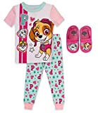Paw Patrol 2 Piece PJ Set with Slipper Bundle,Pink,100% Cotton,Toddler Girl's Size 3T