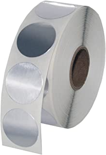 Silver Foil Round Color Coding Inventory Labeling Dot Labels / 1 Inch Stickers - 1000 Labels Per Roll