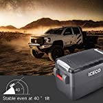 ICECO JP30 Portable Refrigerator, 12V Car Fridge Freezer, 31 Liters Compact Refrigerator with Secop Compressor, for Car… 16 ※ 【FREE PARTS】- Insulated Protective Cover & 12 Feet-Long Extend DC Power Cable. ※ 【MAX & ECO MODE】- This function allows the compressor speed to be slowed down to increase operational efficiencies(ECO) or increase the compressor speed to provide ''quick'' cooldown times(MAX). ※ 【NO ICE NEEDED】- Adjustable Temperature From -7℉~50℉(-22℃~+10℃). How Danfoss compressor works: for the purpose of saving energy, the compressor will stop operating when the freezer up to the set temperature and the compressor will restart to operating when the temperature in the box has risen 6℉-9℉.