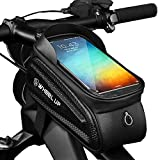 Bolsa Para Cuadro De Bicicleta, Impermeable, Con Orificio Para Auriculares, Con Pantalla Táctil Sensible, Puede Contener Teléfonos Móviles Cargadores Para Teléfono Inteligente Por Debajo De 7 Pulgadas