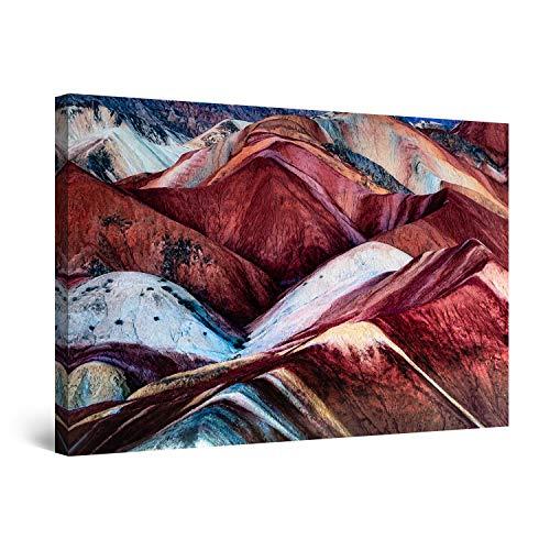 Startonight Cuadro Moderno en Lienzo Montañas en Marte, Pintura Naturaleza para Salon Decoración 60 x 90 cm
