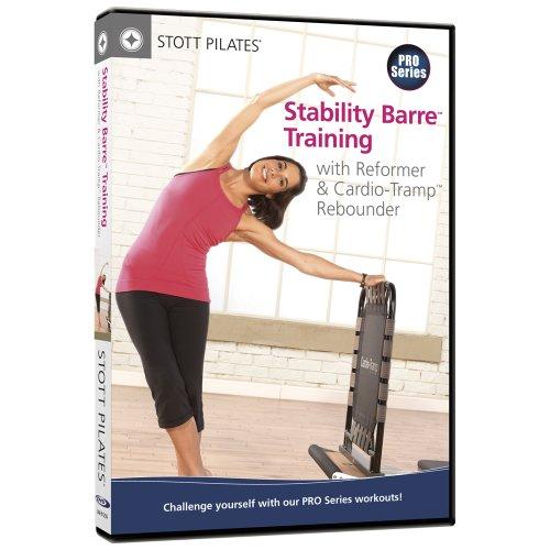 STOTT PILATES Barra de estabilidade de treinamento com Reformador e DVD de recuperação Cardio-Tramp