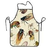 Eastlif Delantal de Babero antisucio Ajustable novedoso de Life of Cicada para Delantal de Cocina para cocinar, Hornear, jardinería, Fiestas