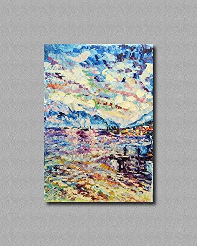 Pinturas al óleo de Arte Moderno Arte de Lienzo de Pared Pintura al óleo sobre lienzo de pared Decoración del hogar ilustraciones abstractas pintadas a mano - GARDA RIFLESSI