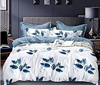Starstorm_6 Pieces King Size Fitted Bed Sheet Set_Purple Flower Design (Click above on Starstorm for more designs)