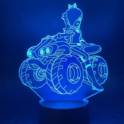 Rijden Een Quad Bike 3D Illusie Lamp Drie Patronen en 7 Kleur Veranderende Decor Lamp - Perfect Cadeaus voor Kinderen