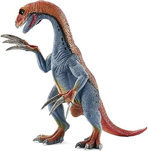 Schleich Réplica de Figura de Dinosaurio Therizinosaurio, Color Azul con Rojo
