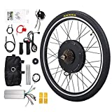 "Sandinrayli Electric Bike Kit, 26"" Rear Wheel 48V 1000W, E-Bike Conversion Kit w/PAS System for Road Bike"