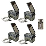 Stealth Cam HME-12VBBSLR Trail Cam Solar Auxiliary Power Packs, 4-Pack: Works with Any Game Cameras