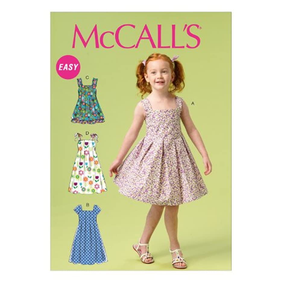 McCall Pattern Company M6878 Children's/Girls' Dresses Sewing Template, Size CDD (2-3-4-5)