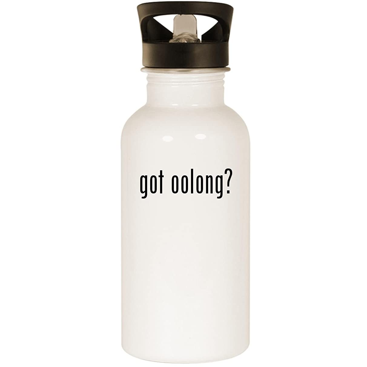 got oolong? - Stainless Steel 20oz Road Ready Water Bottle, White