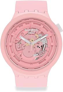 Swatch BIG BOLD STANDARD NEXT Quartz bio-sourced Material Strap, Pink, 16 Casual Watch (Model: SB03P100)