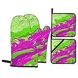 Depositphotos Stock de ilustración Arte Fluido Arte Moderno Fondo (1983) Guantes de Horno y Soportes para ollas Juegos de Guantes de Cocina Resistentes al Calor agarradera de Horno almohadil