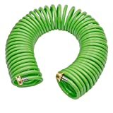Best Coil Garden Hoses - GREEN MOUNT Garden Recoil Hose with Brass Connectors Review