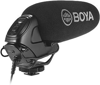 Rakuby マイク BOYA BY-BM3030カメラ ショットガンコンデンサーマイク ロフォンマイク スーパーカー ディオイド一 体型ショックマウント 3.5インチプラグ 2個付き ウィンドスクリーンキャリーポーチ (DSLRカメラ用 )ビ...