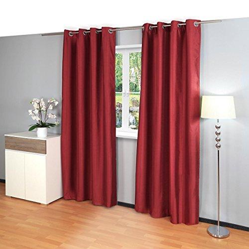 2pcs Gräfenstayn® Latika cortinas de oscurecimiento cortinas térmicas ojales y polar 140...