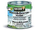 Saicos Colour GmbH 500 2301 Haus und Gartenfarbe, schwedenrot, 2,5 Liter