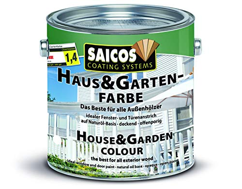 Saicos Colour GmbH 500 2701 Haus- und Gartenfarbe, felsengrau, 2,5 Liter