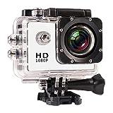 Gracy La cámara del Deporte de HD 1080P Registrador Submarino Kit Portable Impermeable acción de la cámara DV para Viajar al Aire Libre Ciclismo Buceo Amantes del esquí Delta Negro, Cámara Digital