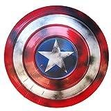 Escudo Capitan America Metal 1: 1 Adulto Apoyos De PelíCula NiñOs Hierro Forjado CapitáN AméRica Shield CapitáN Disfraz De Metal Shield, DecoracióN De Pared De Bar Retro A,47cm