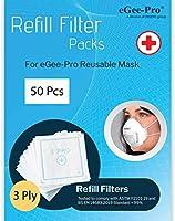 eGee-Pro マスク専用交換フィルター(50枚入)MFLR-200001 ご好評につき1,700円→1,300円でお値打ちセール中!