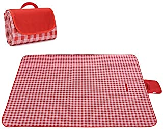 "Picnic Blanket, Foldable Outdoor Mat 79 * 75"" Large Size Waterproof and Sandproof Picnic Mat Beach Mat for Camping Hiking ..."