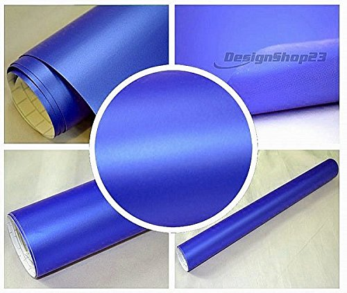 4,5€/m² Auto Folie - BLAU METALLIC MATT - 500 x 152 cm BLASENFREI selbstklebend flexibel Car Wrapping