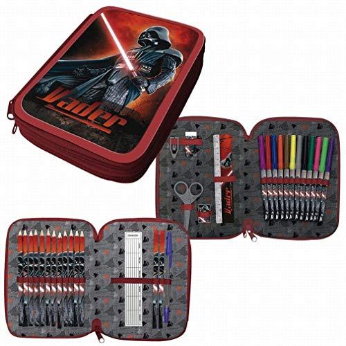 ARDITEX Astuccio Plumier Star Wars Darth Fener 2 Piani con Materiale Scolastico Completo...