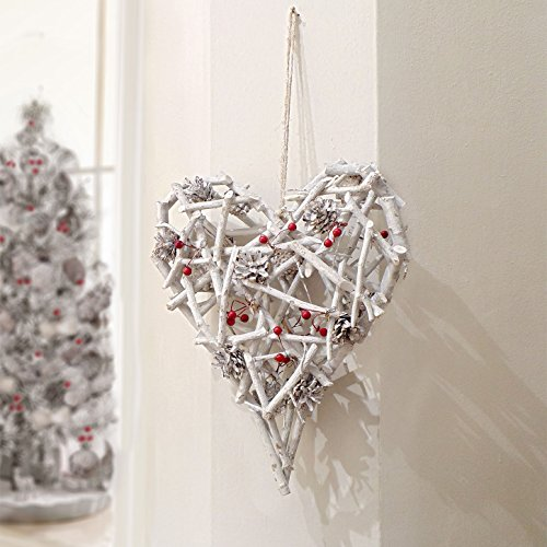Ghirlanda Natale Shabby chic Pinecones and Berries Collection Big Blanc Mariclo