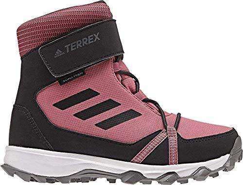 adidas Terrex Snow Cloudfoam CP Climawarm, Unisex-Kinder Trekking- & Wanderstiefel, Rot (Tramar/Carbon/Reamag Tramar/Carbon/Reamag), 34 EU (2 UK)