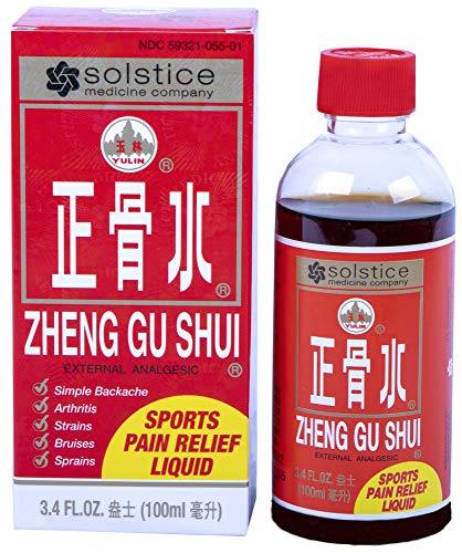 Zheng Gu Shui External Analgesic Relief of Muscle, Joint, Back Pains (3.4 Fl Oz) (1 Bottle)