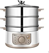 WALNUTA Steamer 3 Niveaux À Vapeur En Acier Inoxydable Alimentaire Électrique À Vapeur Avec Couvercle En Verre, Bateau À V...